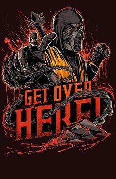 Mortal Kombat Scorpion T-Shirt - Get Over Here Shirt Mortal Kombat Scorpion, Art Mortal Kombat, Playstation, Candy Crush Saga, Video Game Characters, Dc Characters, Game Boy, Fighting Games, Geek Art