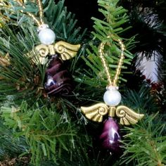 This Heavenly Beaded Angel Ornament is the perfect addition to any Christmas tree. Make a host of purple angels, or vary the bead color and style to create unique ornament crafts.