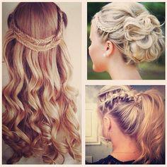 Formal hair. Elegant. Braids