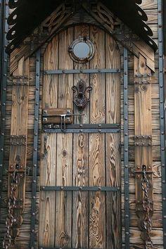 Celt inspired wood door
