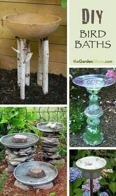 """Cool [   """"Life is about the moments that matter, those exchanges — big and small — between the people we love and the family, friends and colleagues who we count on to remind us who we are. Here we help you capture those moments and keep them close to your heart. G"""",   """"DIY Bird Baths - Easy projects you can do! Sounds like a nice weekend project for me!"""",   """"Easy DIY Bird Baths! Love this a way to create paradise for animals, always thinking of others"""",   """"DIY Bird Baths - Easy projects you…"""