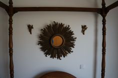 sun mirror with 2 angels small decorations