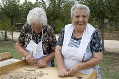 "An Italian-American writer (and self-professed ""terrible cook"") tries her hand at making pasta in Puglia, Italy, with the help of two nonne."