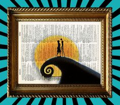Nightmare Before Christmas Jack and Sally by Moonlight by Juxtified on Etsy, $8.95  #nightmarebeforechristmas #jackskellington #timburton