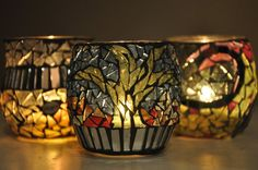 winter forest votive is made with thin auburn by Ernymedesign, $15.00