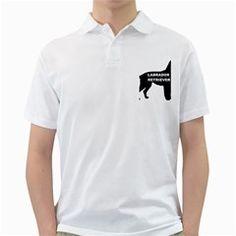 Labrador Retriever Black Name Color Silo Golf Shirts by TailWags
