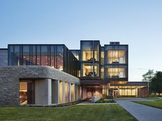 Western University's Richard Ivey School of Business was selected as a winner for its timeless and elemental materials: stone, concrete, glass, copper, steel, walnut, and Douglas fir. It's located in Ontario, Canada.