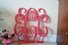 Hey, I found this really awesome Etsy listing at http://www.etsy.com/listing/157264544/24-inch-wooden-monogram-letters