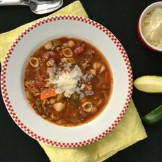 Here's a soup even me will eat.  It's full of vegetables, but it also has Italian sausage, making it filling and delicious.