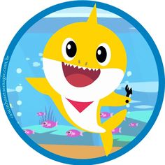 Baby Shark Name, Baby Shark Doo Doo, Shark Birthday Cakes, Birthday Party Themes, Shark Party Supplies, Baby Girl Birthday, 3rd Baby, Birthdays, Cats