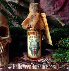 KRAMPUS Hot Sauce is back...for a limited time! http://www.halloweenhotsauce.com/store/p12/Krampus_Hot_Sauce.html #krampus #hotsauce