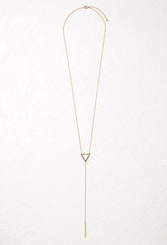 Triangle Charm Necklace | Forever 21 - 1000184314