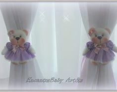 Prendedor de cortina ursinha(Conjunto)
