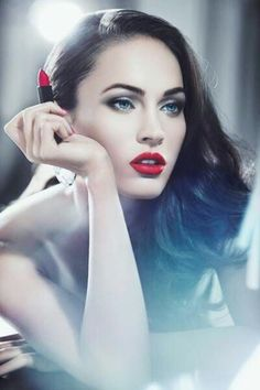 Megan Fox red lipstick..love her!!!