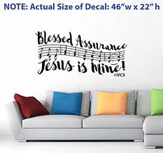 "LARGE ""Blessed Assurance"" Wall Decal - Best Loved Hymns Series - 2 of 5 Vertigo Creative Products"