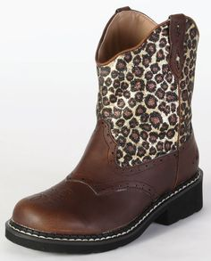 Roper® Girls' Western Leopard Boots::Pull-ons::Kids'::Cowboy Boots::Fort Western Online