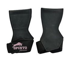 Spinto Fitness Leather Lifting Grips  Black *** Want to know more, click on the image.