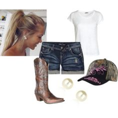 Sweet Summer Time - Polyvore Camping Attire, Camping Outfits, Country Girl Style, Country Girls, Summer Time, Spring Summer, Fashion Ideas, Girl Fashion, Hairbows