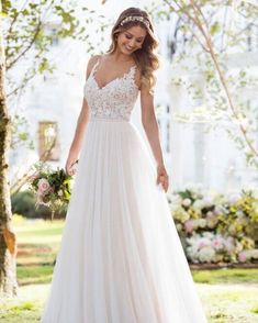 Dream Wedding Dresses Lace 6555 Soft and Romantic Boho Wedding Dress by Stella York.Dream Wedding Dresses Lace 6555 Soft and Romantic Boho Wedding Dress by Stella York Colored Wedding Gowns, Boho Wedding Dress, Dream Wedding Dresses, Boho Dress, Wedding Dresses Stella York, A Line Wedding Dress Sweetheart, Classic Wedding Dress, Casual Wedding, Satin Gown