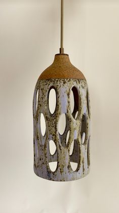 Ceramics made in Los Angeles. Lighting and wall hangings made of stoneware by ceramicist Heather Levine. Ceramic Lantern, Ceramic Light, Raku Pottery, Ceramic Painting, Ceramic Art, Deco Luminaire, Hand Thrown Pottery, Pottery Techniques, Pottery Designs