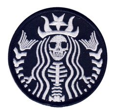 Dead Barista Mermaid Rockabilly Zombie Tattoo Goth Punk Patch