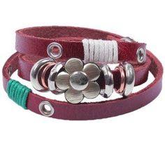 Heart Love infinity Antique Bronze Korea Velvet Leather Cute Charm Bracelet B080 « Chunky Jewelry Store