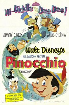 Best Film Posters : – Picture : – Description PINOCCHIO Inventor Gepetto creates a wooden marionette called Pinocchio. His wish that Pinocchio be a real boy is unexpectedly granted by a fairy. The fairy assigns Jiminy Cricket to act as Pinocchio's. Vintage Disney Posters, Retro Disney, Disney Movie Posters, Classic Movie Posters, Vintage Movies, Disney Love, Walt Disney, Disney Pixar, Disney Magic