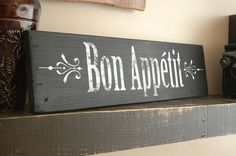 AFTER THANKSGIVING SALE Bon Appetit Sign and by JetmakDesigns, $34.00