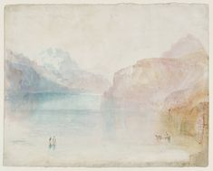 Joseph Mallord William Turner — Lucerne [Turner] after Gouache and watercolour on paper Dimensions: support: 249 x 311 mm Accepted by the nation as part of the Turner Bequest 1856 Tate Casper David, Turner Watercolors, Turner Contemporary, Turner Painting, Joseph Williams, Joseph Mallord William Turner, Tate Gallery, Covent Garden, Landscape Paintings