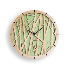 wall clock design 53691420538058311 - Modern Wall Clock Tree leaves Large Wall Clock by Source by tdaroczi Wall Clock Wooden, Wood Wall, Handmade Wall Clocks, Kitchen Wall Clocks, Cool Clocks, Wall Clock Design, Diy Clock, Wood Crafts, Modern Wall