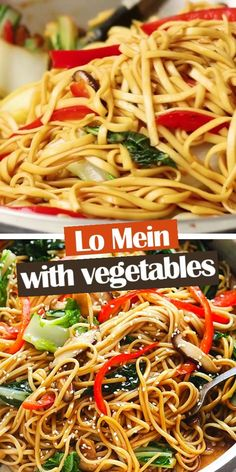 Most Delicious Recipe, Delicious Dinner Recipes, Yummy Food, Easy Lo Mein Recipe, Food Videos, Recipe Videos, Around The World Food, Asian Recipes, Easy Recipes