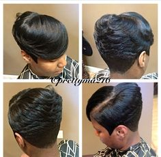 Black Bob Hairstyles, Quick Weave Hairstyles, Short Hairstyle, Short Haircuts, Cute Hairstyles, Medium Short Hair, Very Short Hair, Medium Hair Styles, Tracy Williams