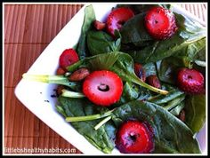 Little b's healthy habits: Summer Spinach Salad & Clean Poppyseed Dressing