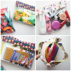How to sew a vinyl zipper case see through pouch tutorial with great photo instructions!