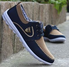 Item Type:casual shoes Gender:Men Season:Spring/Autumn Upper Material:Canvas Pattern Type:Solid Heel Type:Flat with Insole Material:Rubber Closure Type:Lace-Up