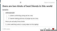 HAHAHAHAHA!!! Chen! That's evil!>>Sometimes, I am Taemin. Mostly I'm Luhan, but often I'm Chen. XD