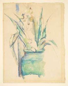 Paul Cezanne, Le Vase et la Colonne. Watercolor and pencil on cream laid paper, circa 1890. 11 7/8 inches by 9 1/8 inches. Estimate: $300,000-$500,000.