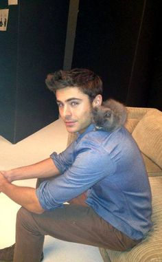 As if Zac Efron wasn't sexy enough... he loves kittens too!