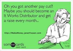 Ready to get a raise every month? Join me today!  #itworks #homebased #business #opportunity #stayhome