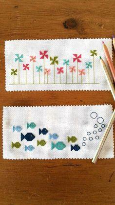 Hand Embroidery Patterns, Cross Stitch Patterns, Embroidery Designs, Bubble Fish, Palestinian Embroidery, Cross Stitch Bookmarks, Christmas Cross, Cross Stitching, Fisher