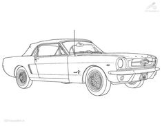 Ford Mustang Coloring Pages | Vehicle >> Car >> Ford Mustang Coloring Page
