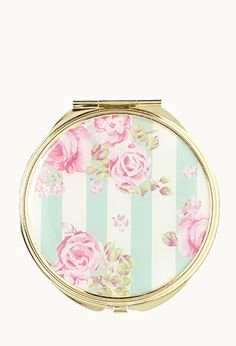 Striped Floral Mirror Compact | FOREVER21 - 1000066364