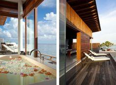 spa bereich alila villas hadahaal luxus resort auf malediven