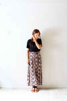 Vintage boho hippie floral skirt on Etsy, $24.00