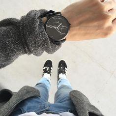 The Black Marble | Kangaroo leather strap | FREE shipping worldwide! $149AUD…