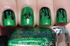 Biohazard with Colors by Llarowe Gemini Rising ~ More Nail Polish