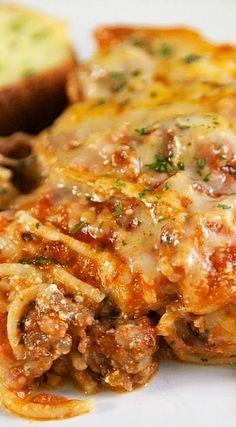 "The Best Baked Spaghetti ""Repinned by Keva xo""."