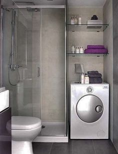 simple tiny bathroom laundry room with washer dryer combo hang clean clothes over washerdryer and put sink in shower save a whole lot of space