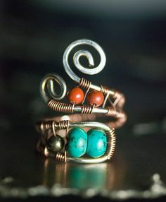 I am in love with this ring and the person even does it custom! Turquoise Ring Sterling Silver Copper Ring by mossandmist on Etsy, $48.00   Is it worth it??