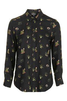 PETITE Cactus Printed Shirt - Tops - Clothing - Topshop
